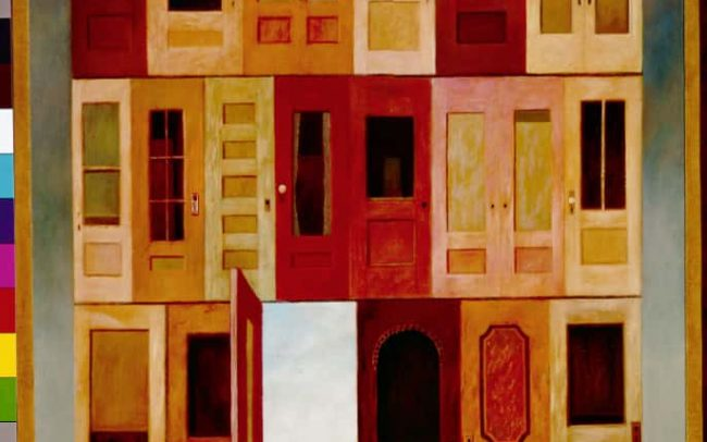 The Wall, Oil on board, 24×20.5 inches, 1968