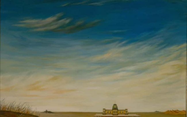 The Station, Oil on board, 24. 875×29.875 inches, 1969