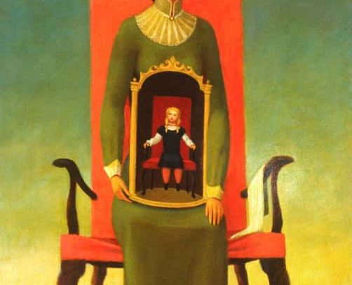 Mother and Child II, Oil on board, 22 x 14 inches, 1980