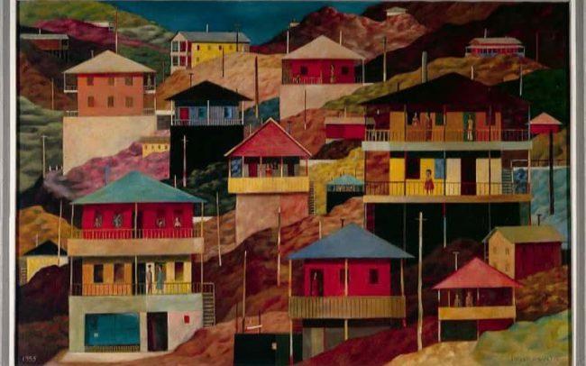 Mountain Landscape I, Oil on board, 24 x 36 inches, 1955