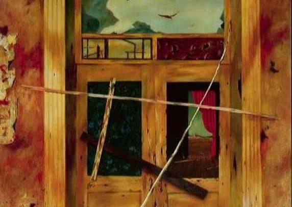 Wyatt Earp Saloon, Oil on board, 37×27 inches, 1957
