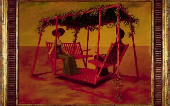 Afternoon Swing, Oil on board, 24×31.75 inches, 1963