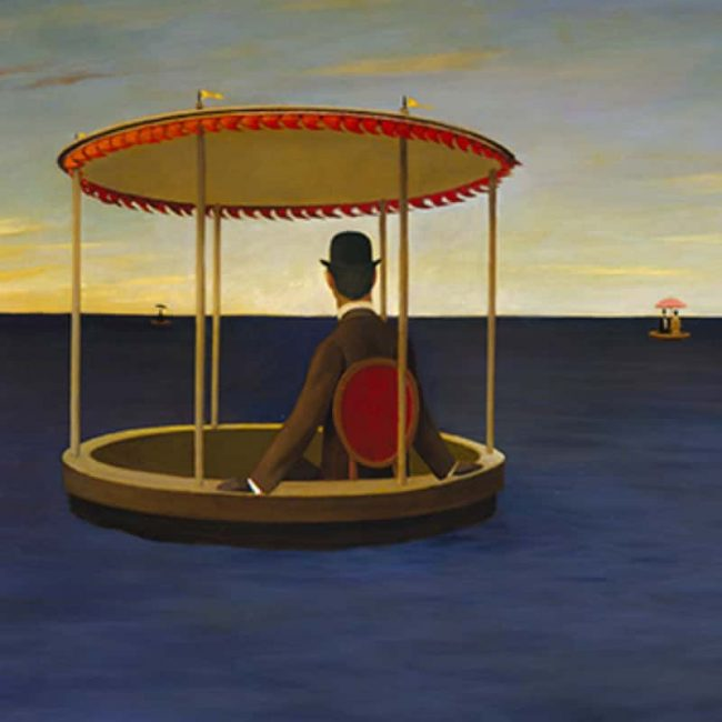 Tub at Sea, Oil on board, 28×35.75 inches, 1979